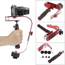 Handheld Stabilizer Gimbal for Gopro DSLR SLR Digital Camera Sport DV Aluminum Alloy estabilizador de camera DSLR Universal Red f17724 5 smg ext 3 axle handheld gimbal camera mount stabilizer support bluetooth app for a7s gh4 bmpcc dslr dv