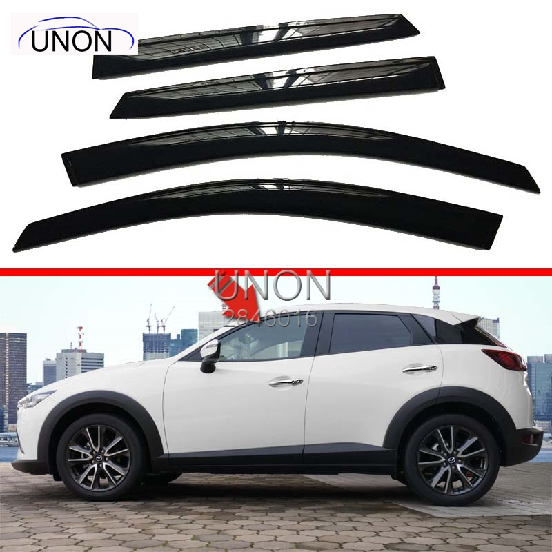 4PCS  Car Windows Protection Rain Shield Visor Cover For Mazda CX-3 CX3 Windows Visors act 4 for windows for dummies