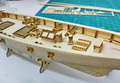 Лазерная резка Деревянный парусник модель комплект: Харви 1847 западной парусник & Бесплатно 1 шт. 36 мм латунь пушки