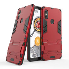 Armor ShockProof Case For Xiaomi Poco F1 Mi8 SE 3D Shield PC+Silicone Phone Cover Mi Max 3 Mix 2s Fundas