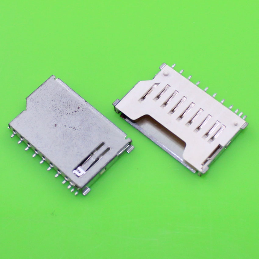 ChengHaoRan 1 Piece Best price New Iron cover SD card socket tray slot reader holder connector.KA-110
