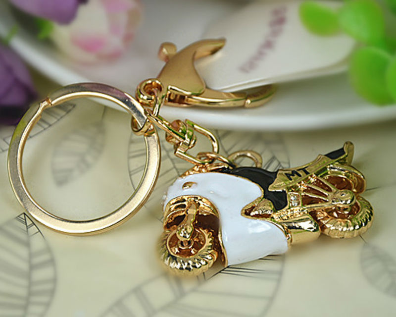 HB Sports Motorcycle Keyring Fashion Jewelry Women Bag Crystal Rhinestone Charm Pendant Bag KeyChain Valentine Gift