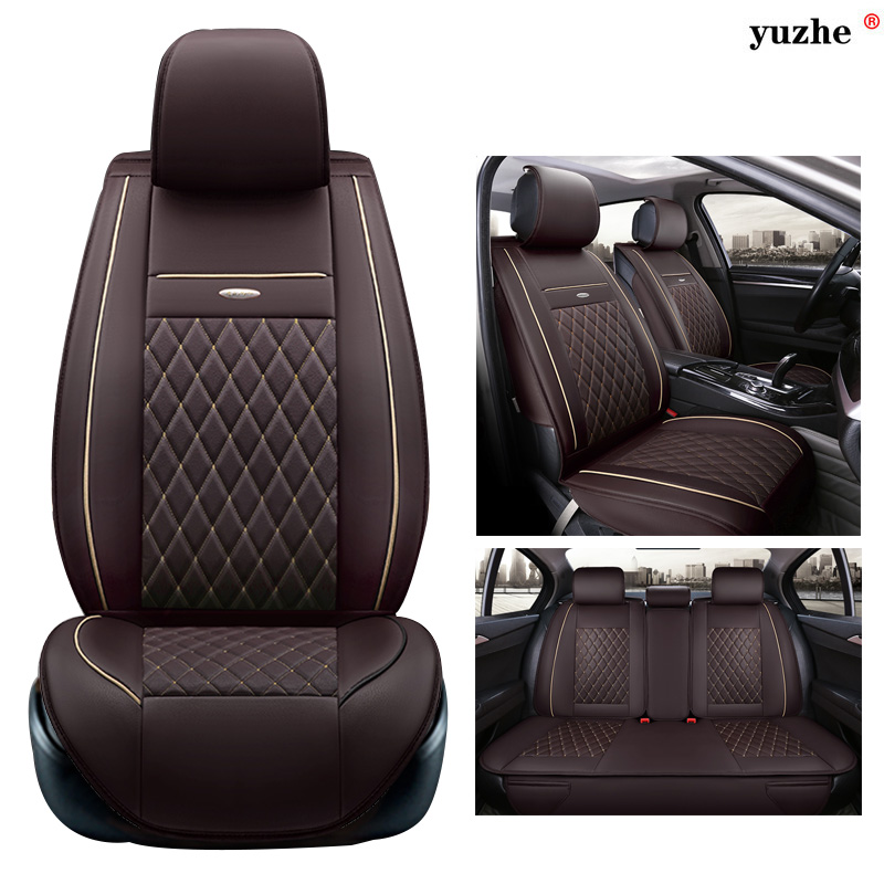 все цены на Yuzhe leather car seat cover For Hyundai IX35 IX25 Sonata Santafe Tucson ELANTRA Accent Verna I30 car accessories styling онлайн