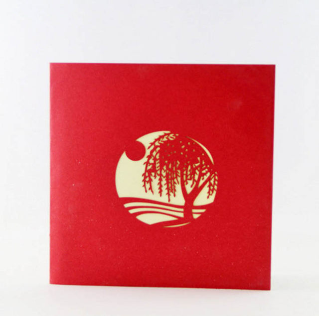 Online shop willow tree pop up card3d kirigami card handmade willow tree pop up card3d kirigami card handmade spring tree greeting cards m4hsunfo