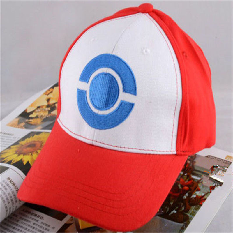 Kids Adult Pokemon Go Cosplay Cap Drake Hip Hop Pikachu Pocket Monster Bone Dad Hat Baseball Caps Charms Ash Ketchum Casquette new cartoon pikachu cosplay cap black novelty anime pocket monster ladies dress pokemon go hat charms costume props baseball cap