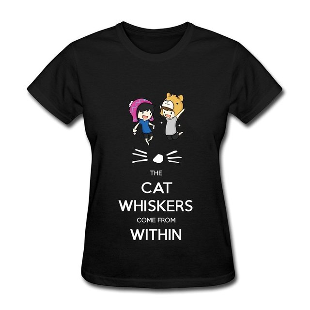 Us 13 04 13 Off Aliexpress Com Buy Women S Dan And Phil The Cats Whiskers Come From Within T Shirt Black From Reliable Dan And Phil Suppliers On