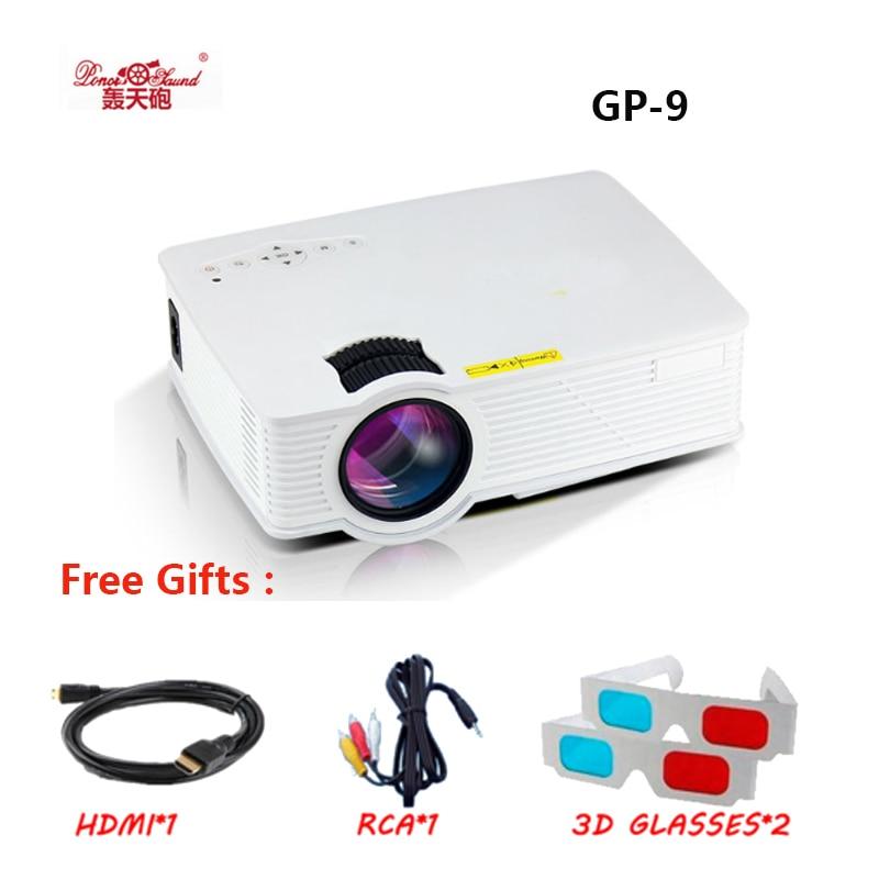 GP 9 2000 люмен мини projetor Full HD 1080 P Портативный USB Кино дома Театр Пико ЖК-дисплей видео светодиодный проектор проектор gp-9 proyector