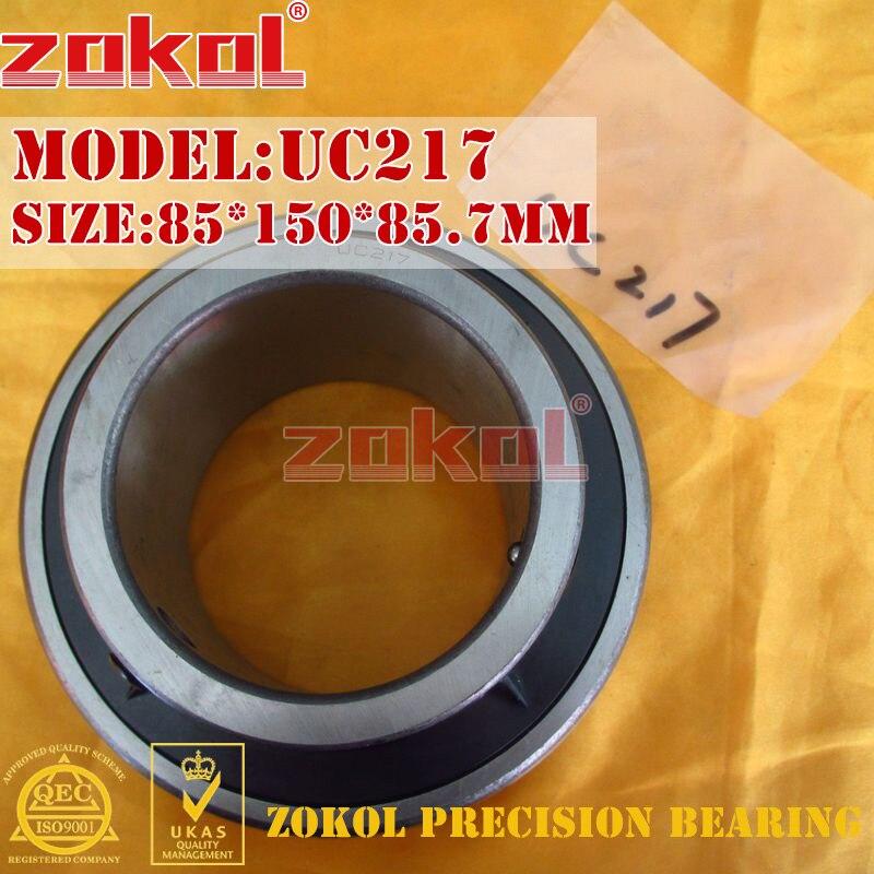 ZOKOL bearing UC217 90217 Pillow Block Ball Bearing 85*150*85.7mm zokol bearing uc209 suc209 90509 stainless steel pillow block ball bearing 45 85 49 2mm