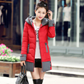 Niza Pop Nueva Marca de Invierno Chaqueta de Las Mujeres Wadded Parkas Engrosamiento de Estilo de Moda de Corea Delgado Acolchada Larga Outwear HJ88