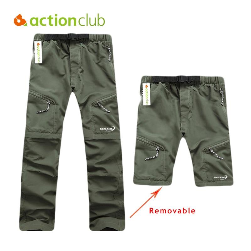 Prix pour Actionclub Hommes À Séchage Rapide En Plein Air Pantalon Amovible Randonnée et Camping Pantalons Homme D'été Respirant De Pêche Pantalon Pantaloni SC089
