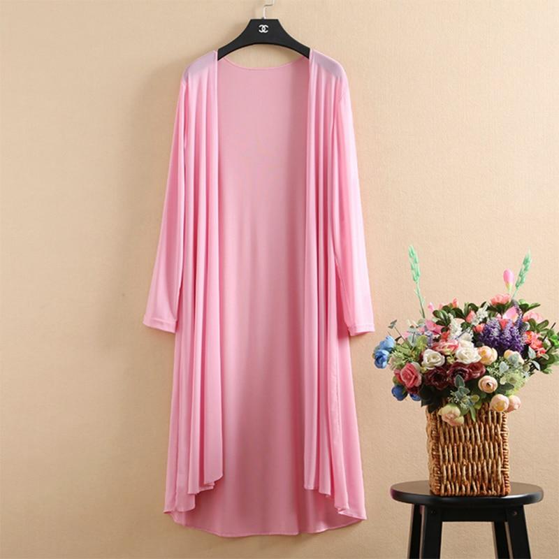 Kimono Cardigan Long Summer Cardigan Women White Blouse Pink