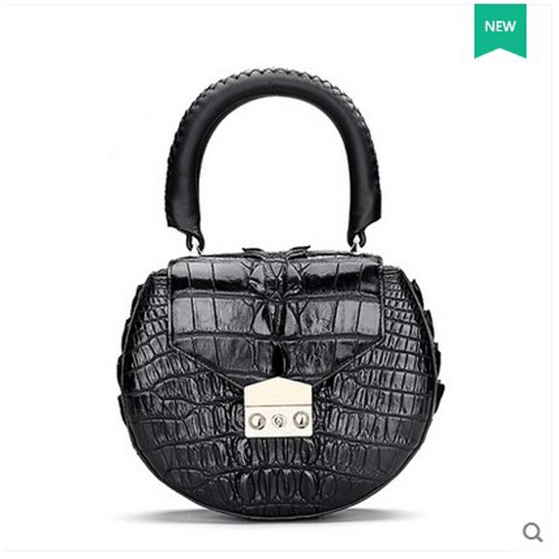 hlt 2017 new Thai crocodile skin women handbag alligator women bag women's bag  small round bag щипцы hlt 10