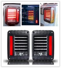 6″x 8″ Pair LED Reverse Brake Tail Lights USA / European Standard Plugs For 07-15 JK WRANGLER Car Light Brake+Park+Signal