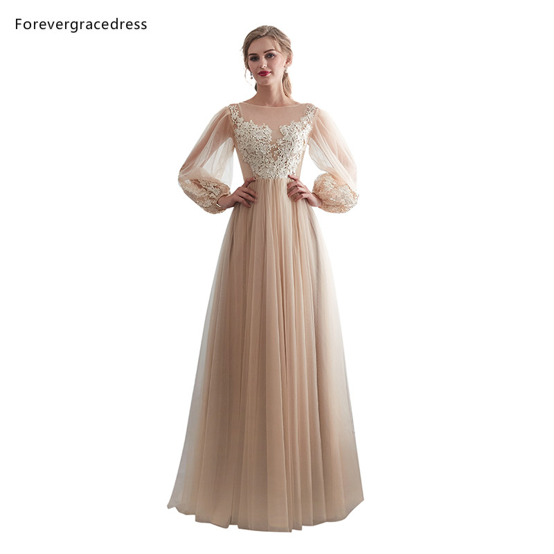 Forevergracedress Champagne Bridesmaid Dresses 2019 A Line Formal Wedding Party Guest Maid Of Honor Gowns Plus Size Custom Made