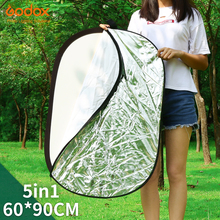 "Godox 24"" * 35""  60 x 90cm 5 in 1 Portable Collapsible Light Oval Photography/Photo Reflector for Studio"
