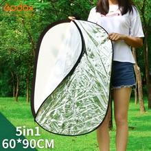 "Godox 24 ""* 35"" 60x90 ס""מ 5 ב 1 נייד מתקפל אור סגלגל צילום/תמונה רפלקטור לסטודיו"