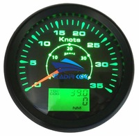 Pack of 1 85mm GPS Speedometer Gauges 0 35Knots Marine Speed Odometer 0 40MPH with Trip Cog ODO Function 8 Kinds Backlight Color