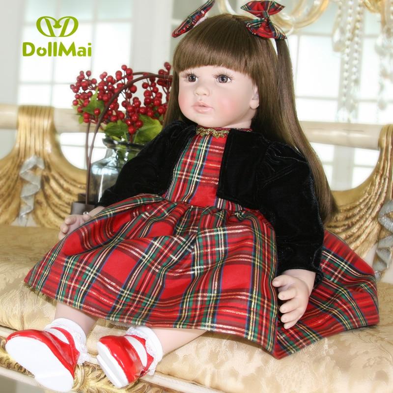 "24""/60 cm Bebe Alive Silicone Reborn Baby Toddler Princess Girl Dolls Toys for Children Girls Adora Birthday Gift Dolls"