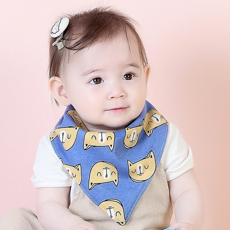 Brand Baby Bibs Saliva Towel Colorful 2 Layers Bibs Burp Cloth Triangle Cotton Scarf Infant Bandana Baby Cloth Accessory (AS014)