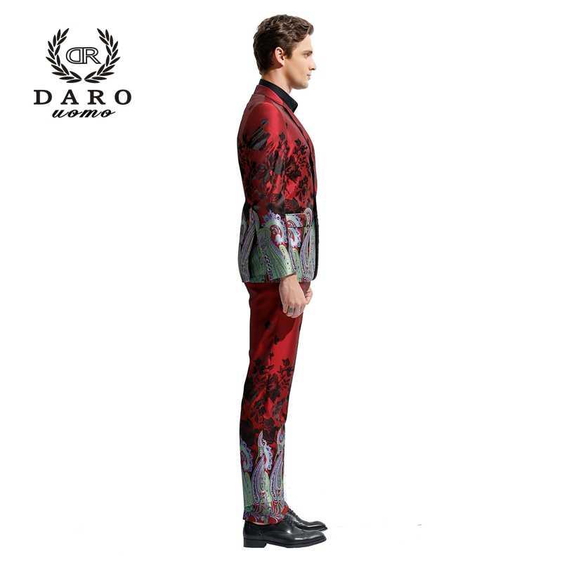 DARO 2019 Men's Blazer Suit Slim Casual Jacket  Pants Weddings parties Chinese Style Suit DR8828