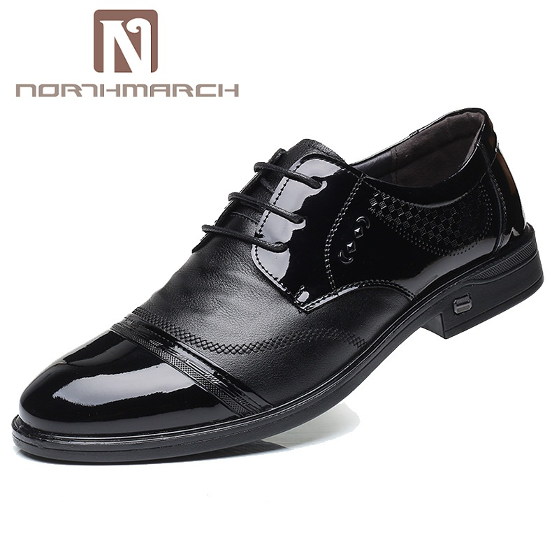 NORTHMARCH Brand Men Dress Shoes Fashion Comfortable Business Shoes Men Formal Shoe Lace-Up Male Wedding Shoes Derbies Homme цена 2017