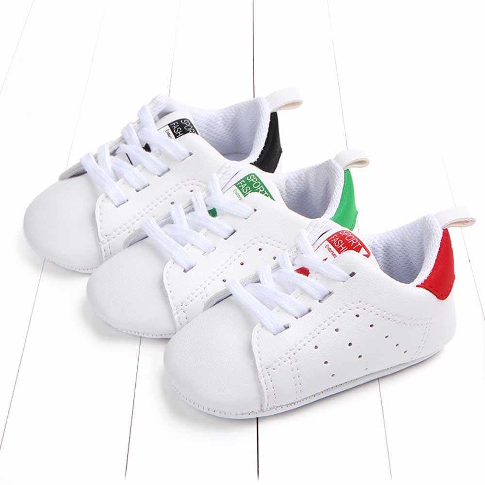 Simple solid color star print sport fashion Newborn Baby Toddler Solid Star Letter Print Anti-slip Soft Sole Casual Shoes F5