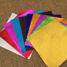 Розничная 100 шт./лот 8*8 см 10*10 см 15*15 см разноцветная фольга обертка для конфет Сладкая упаковочная бумага квадратная красочная фольга