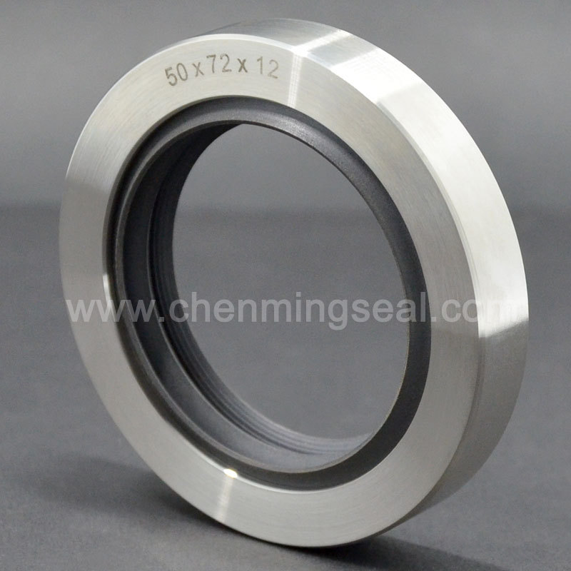 50 72 12 mm High Precision PTFE Oil Seals with triple lip stainless steel housing for