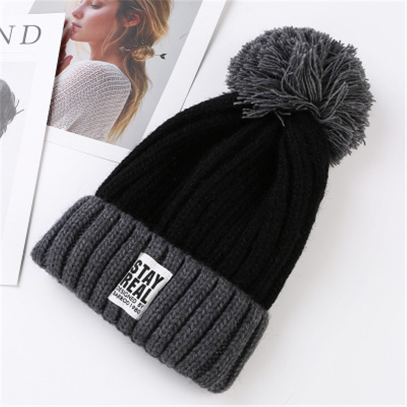 Super mink and fox fur ball cap pom poms winter hat for women girl 's hat knitted  beanies cap brand new thick female cap fetsbuy mink fur ball cap gray pom poms winter hat for women girl s wool hat knitted cotton beanies cap brand thick female cap