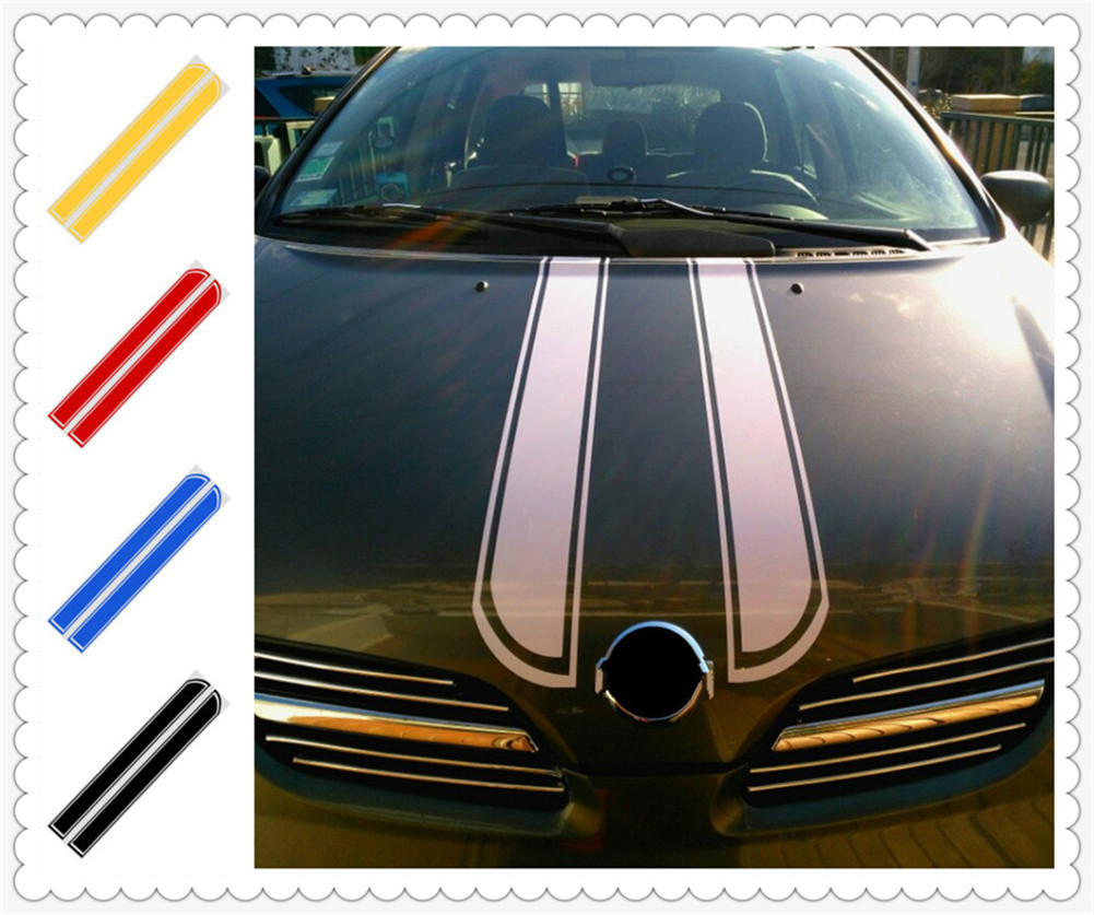 Car motorcycle styling hood decorative sticker cover DIY stripes for Mercedes Benz E53 C63 C43 C-Class AMG GL550 F800 A200 image
