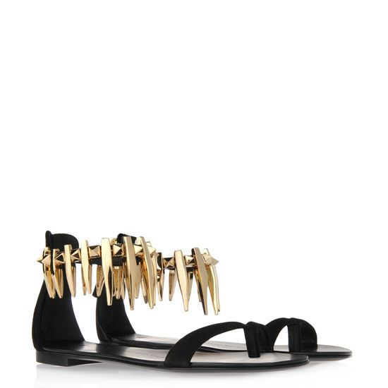 2015 summer women genuine leather metal chain Italian Flat With sandals  Metal Gold Plate Diamond Decoration flat Sandals-in Women s Sandals from Shoes  on ... 604f7d3e173b