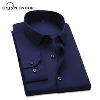 Big Size 4XL 2015 Autumn High Ranking Men S Pure Cotton Plaid Dress Shirt Male Long
