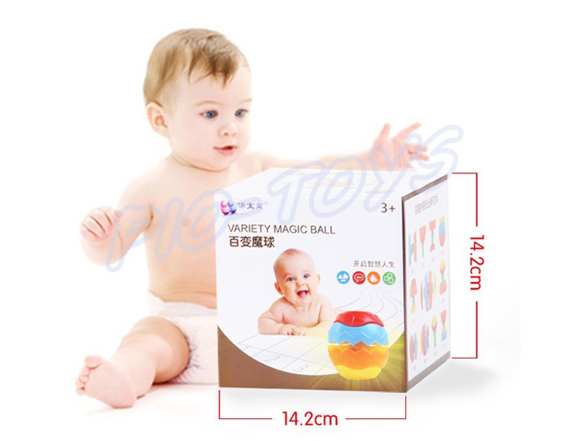 Hotsale Gift Baby Transformation Ball Magic Cubes Education Toys Puzzles Learning IQ Game For Kids Sport Children Building Model 12