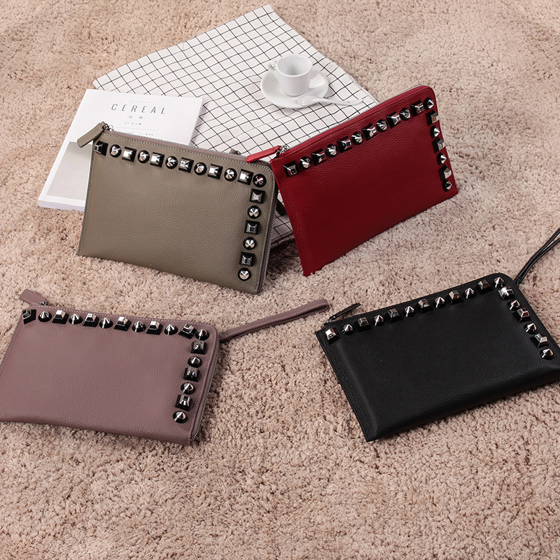 2018 Fashion Brand Genuine Leather Day Clutch Women Handbag Envelope Bag Ladies Evening Bag Crossbody Shoulder Bag Bolso new punk fashion metal tassel pu leather folding envelope bag clutch bag ladies shoulder bag purse crossbody messenger bag