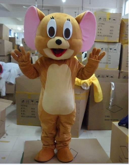 Jerry Tom Cat And Mouse Mascot Costume / Halloween / Reality Mouse And Tom Anime / Party