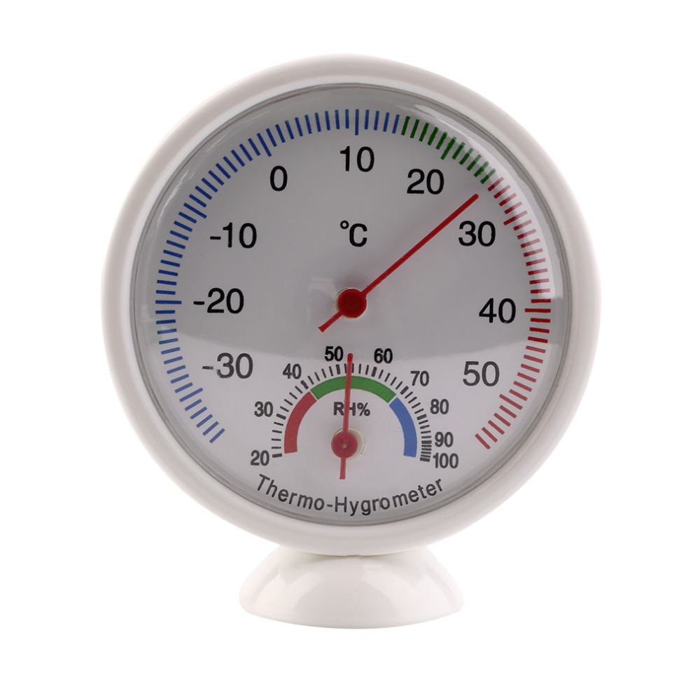 High Quality Indoor Outdoor Thermometer Hygrometer Temperature Meter Newest Plastic Household Kitchen Tools White 2017 Top Sale
