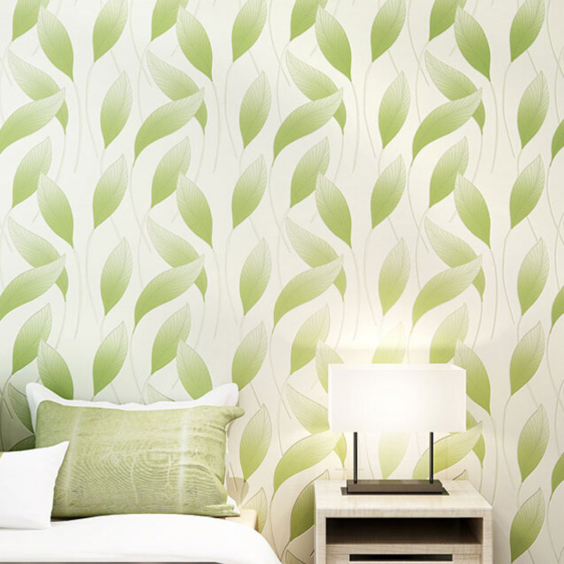 China wholesale modern leaf wallpaper simple elegant for Simple elegant wallpaper