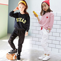 Носить Случайный Брюки Весной И Осенью 2016 Детей Спортивные Брюки Мальчиков И Девочек Хлопок Кружево Брюки Бренд детской Одежды