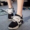 2016 Instituto de Estilo Harajuku Femenina Superficie Suave Dulce Ocio Zapatos de Malla de zapatos de Plataforma Zapatos Casuales