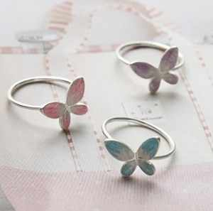 R186 2019 new trendy open-end butterfly ring / fashion butterfly ring wedding ring for women