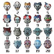 LED face maske Mask animal Masks Halloween EVA clown skull masks Horror Luminous Scary Lights