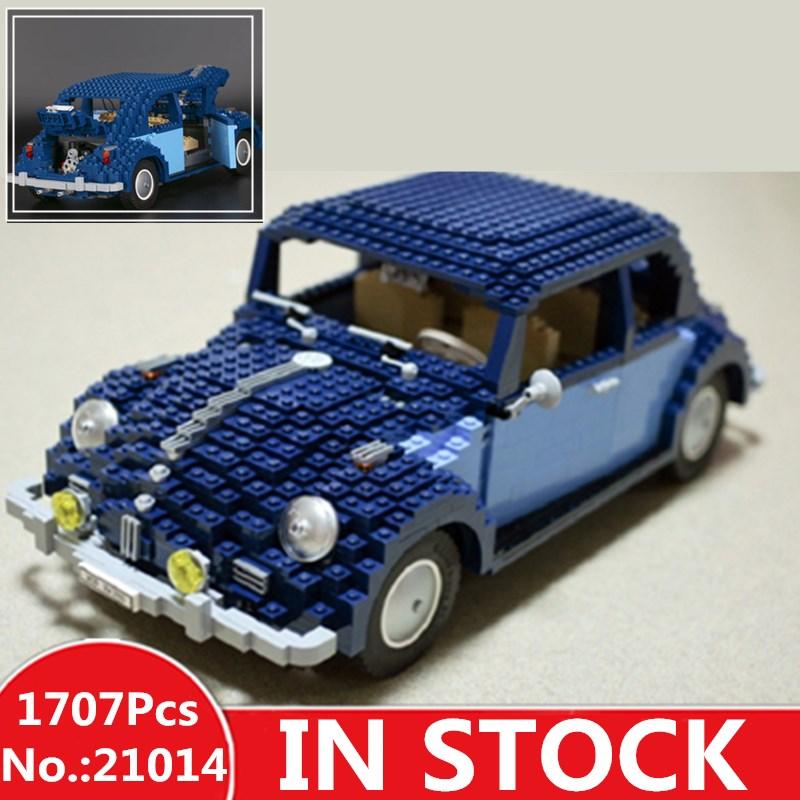 In-Stock Lepin 21014 1707Pcs Classic Series The Ultimate Beetle Set car-styling Building Blocks Bricks Toys for children gifts 1707pcs new lepin 21014 classic beetle model car building kits blocks bricks for children christmas gifts legoinglys 10187