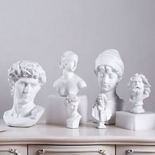 Creative home gardening decoration European Greek character bust art sketch resin crafts decorations