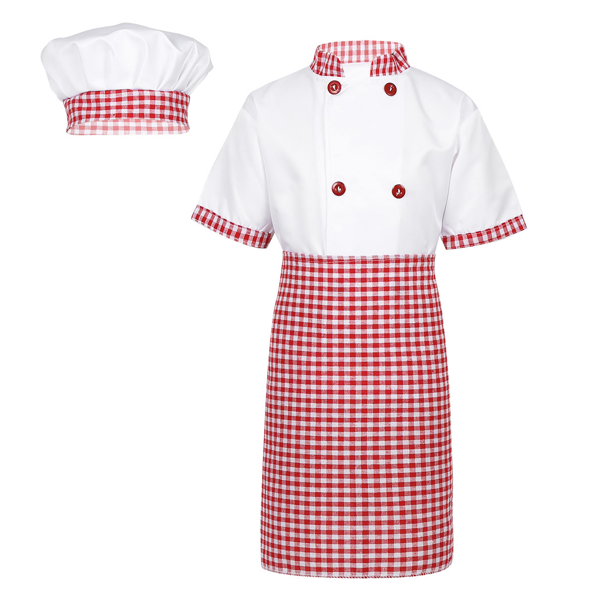 8a3f66e1a Chef Kids Costumes Cooking Clothing Baby Boy Girl s Chef Jacket with ...