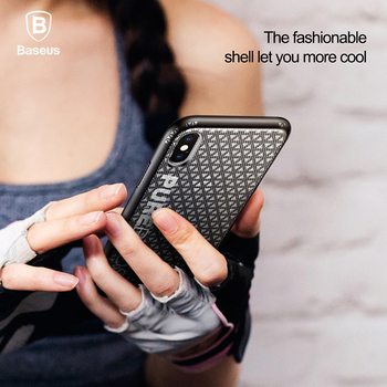 Baseus Fashion Cool Sport Case For iPhone X Thin Silicone + Plastic Anti Knock Case For iPhone X Coque Hollow Cooling Cases Capa