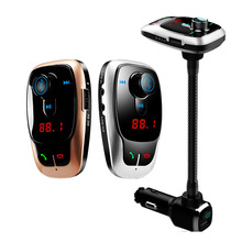 Multi-function Car Fully Compatible Bluetooth Wireless Hands-free Call Kit FM Transmitter Dual USB U-Type MP3 Player