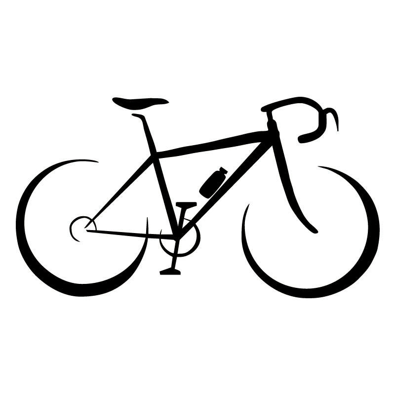 13 8cm 7 6cm Creative Bike Black Silver Vinyl Car Sticker S9 0107 In