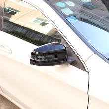 Gloss Black ABS Car Side Rearview Mirror Cap Cover Trim For Mercedes Benz E Class W212 A CLA GLA GLK Class W176 W117 X156 X204 автомобильное зеркало cla glk abs