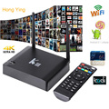Bluetooth KIII S905 Amlogic Quad Core Android 5.1 TV BOX W/1080 P 4 K H.265 2.4/5G Dual WiFi LAN Gigabit Kodi Smart Media jugador
