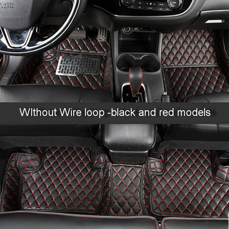 3-6 Pcs DIY Car Style Leather 3D Full Surround Foot Pad Cover Case stickers for Mitsubishi Outlander 2013-16 Part Accessories
